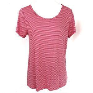 Lularoe striped blouse pink size XS